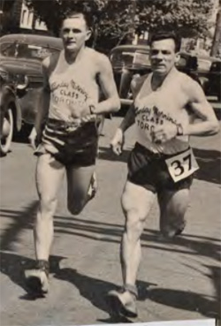 Ab Morton and Scotty Rankine during the annual Hamilton Around the Bay Road Race.